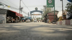 Land entrance to Damnoen Saduak floating market Stock Footage