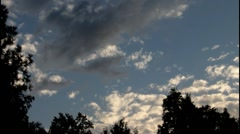 Evening sky over the Black Forest ( Schwarzwald) - stock footage