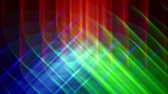 4K Prismatic RGB tri star abstract background loop bright Stock Footage