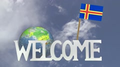 Friendly invitation to come to visit ALAND ISLANDS Stock Footage