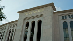 Yankee Stadium in the Bronx, New York City NYC Stock Footage