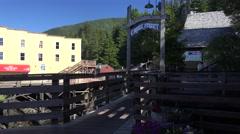 Views of Creek Street in Ketchikan, Alaska Stock Footage