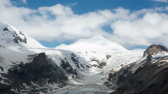Clouds over glacier time lapse Stock Footage