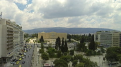 Constitution Square of Athens (Syntagma) , Greece, 1920X1080 Timelapse - Zoom In Stock Footage