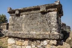 monumental tomb in the necropolis - stock photo