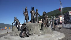 Ketchikan, Alaska, tribute to settlers Stock Footage