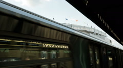 Yankee Stadium subway station in the Bronx, New York City NYC - stock footage