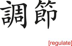 Chinese Sign for regulate - stock illustration