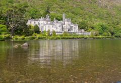 Kylemore Abbey in Ireland Stock Photos