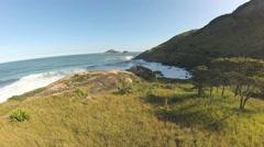 Praia Rio de Janeiro Aerea Stock Footage