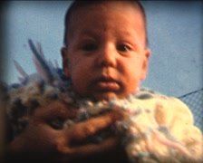 8MM new born baby discovering the world 1 Stock Footage