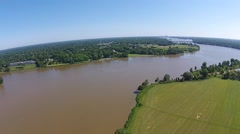 Aerial View of River camera moving to the left Stock Footage
