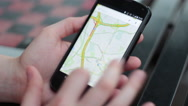 Stock Video Footage of Google Maps on Smartphone