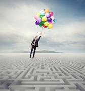 Overcome obstacles Stock Illustration