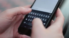 Closeup of Girl Texting on Android Phone - stock footage