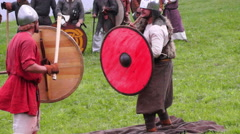 Fight Vikings 9-10 century Stock Footage