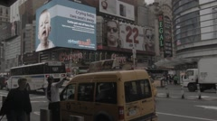 NY Time Square CAB Stock Footage