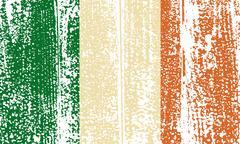 Irish grunge flag. Vector illustration. - stock illustration