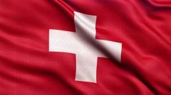 4K Flag of Switzerland seamless loop Ultra-HD Stock Footage
