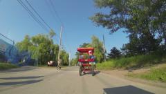 Toronto Island Bike Ride Time Lapse Stock Footage