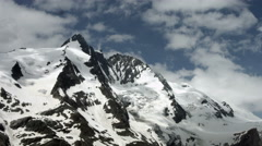 Grossglockner peak north side, Austria Stock Footage