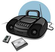 Stock Illustration of tape recorder