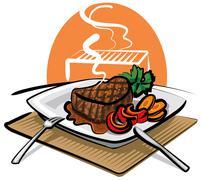 Beef steak Stock Illustration