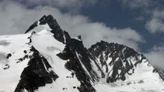 Grossglockner peak north side, Austria Stock Footage