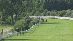 4k Horse Racing final run on last meters Stock Footage