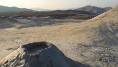Stock Video Footage of Visiting Mud, Muddy Volcanoes in Sunset, Landmark, Reservation in Buzau, Romania