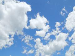 White Summer Clouds Time Lapse 4k Stock Footage