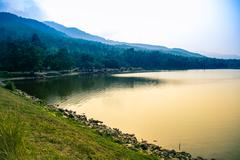 scenic view of lake in chiang mai, thailand - stock photo