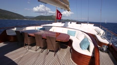 Longest wooden Luxury Yacht - stock footage