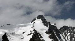 Grossglockner peak north side zoom in, Austria Stock Footage