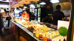 Chinese food stall at Camden Market Stock Footage