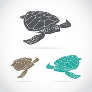 Vector image of an turtle Stock Illustration