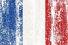 French grunge flag. Vector illustration - stock illustration