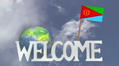 Friendly invitation to come to visit ERITREA - stock footage