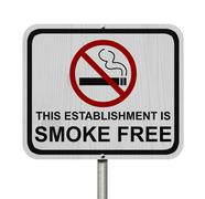 smoking free establishment sign - stock illustration