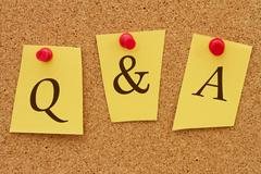 Q&a, questions and answers Stock Photos