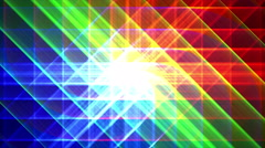4K Prismatic grid star abstract background loop, rgb, red green blue 2 shimmer Stock Footage
