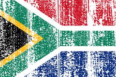 South Africa grunge flag. Vector illustration. - stock illustration
