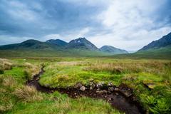 Beautiful Mountains of Glencoe - stock photo