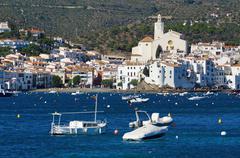 Village of cadaques spain mediterranean sea coast Stock Photos