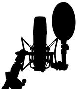 Stock Illustration of Studio microphone