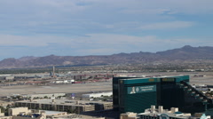 Las Vegas MGM Grand Airport View Daytime Stock Footage