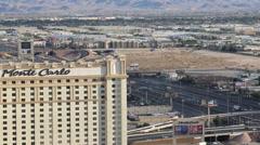 Las Vegas Monte Carlo Hotel Stock Footage