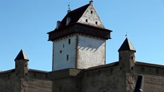 Old fortress zoom in Stock Footage