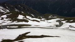 Grossglockner Hochalpenstrasse between Heiligenblut and Zell am See, Austria Stock Footage
