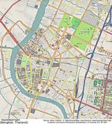 Bangkok aerial view - stock illustration